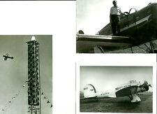 LOT OF 3:  AIR RACING LOCKHEED SIRIUS + SHERIDAN 72 AIRPLANES PHOTOGRAPH SET #83