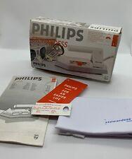 Philips Stewardess - HD 1168 - Travel Iron - Dual Voltage - Boxed - Vintage