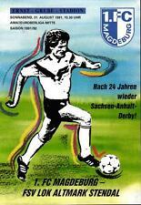 OL 91/92 1. FC Magdeburg - FSV Lok Altmark Stendal, 31.08.1991