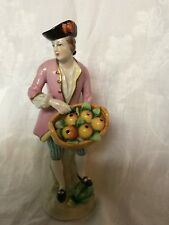 Pair Sitzendorf fruit seller figurines 1902 - 18