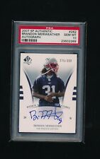 2007 SP Authentic /399 #262 Brandon Meriweather PSA 10 Autograph  RC Patriots
