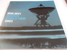BONJOVI BOUNCE WORLD TOUR PROGRAMME 2003