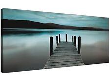 Teal Derwent Water Jetty - Lake District Canvas Art