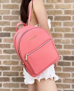 Michael Kors Kenly Medium Adina Backpack Pebbled Leather Grapefruit Pink