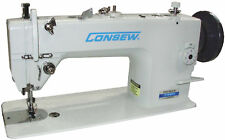 Walking Foot Consew P1206RB Industrial Sewing Machine w/ Table & Servo Motor,