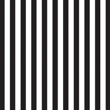 Black Stripe Wrapping Paper Gift Wrap Counter Roll 500mm W x 50 Metre Roll