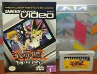 Yu-Gi-Oh Vs Joey + Manual - Nintendo Game Boy Advance Video Cart TESTED  Works