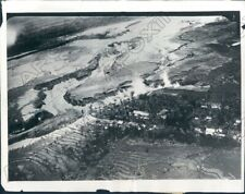 1931 Ralong Java Village Surrounded By Lava From Merapi Volcano Press Photo