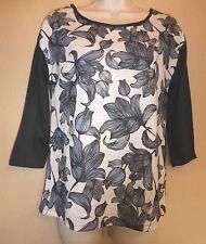 Dorothy Perkins UK10 EU38 US6 black and white 3/4 sleeve lightweight jumper