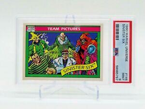 1990 Marvel Universe Impel Team Pictures Sinister Six Card #146 MINT PSA 9