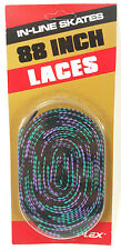 Vintage VARIFLEX 88 Inch In-Line Skate Shoe Laces in Purple Blue Black 80s 90s