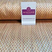 Geometric Copper Gold Banarsi Lame Brocade Fabric 110cm MA1125 Mtex
