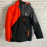 Spyder Kids Ambush Insulated Ski Jacket Size 18 Orange Black Gray