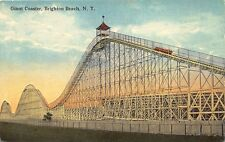 Brighton Beach NY Giant Roller Coaster Postcard