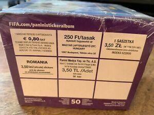 PANINI RUSSIA 2018 WORLD CUP SEALED BOX OF 50 PACKETS POLISH HUNGARIAN ROMANIAN