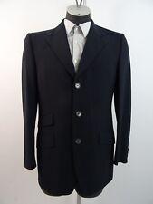 Zegna Herren Sakko Jacket Blazer Schwarz Wolle Gr. 50 Einreiher Doppelschlitz