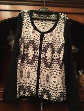 Ladies Black & White Armani Exchange Cardigan Size Medium