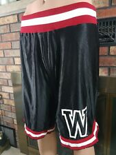 Vintage Wisconsin Badgers NCAA Basketball Team Shorts Mens Size XL Black Red