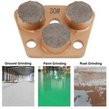 Diamond Steel Concrete Floor Grinding Grinder Pad 30# Grit 75x55x18mm 3 Hole SL