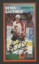 Denis Gauthier Calgary Flames Signed Autographed Hockey Postcard