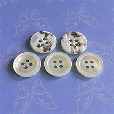 8 Real Trocas Ocean Shell Tuxedo Sleeve Cuff Buttons 4H 15mm 24L Natural D144