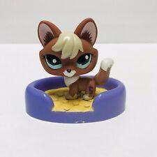 Authentic Littlest Pet Shop 1126 Red Brown Blonde Rare Fox Aqua Eyes + Accessory