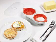 Joseph Joseph M-Cuisine Microwave Egg Poacher - Stone/Orange