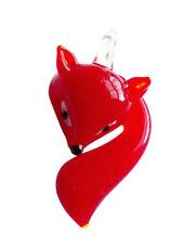 Red Fox Glass Lampwork Pendant Charm Jewelry Supplies