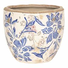 Blumenkasten Übertopf Pflanztopf Keramik Metall Handarbeit Shabby Vintage