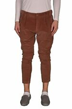 "Dolce & Gabbana ""D&G"" Brown Pleated Men's Cropped Corduroy Pants US 36 IT 52"