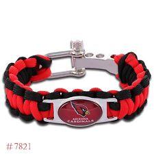 Arizona Cardinals Paracord Bracelet Big Man Xlong Quality Fast Ship USA Seller