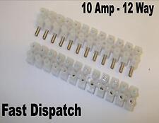 3 x 10amp 12 Way Spina TERMINALE striscia di collegare il cavo di cablaggio elettrico