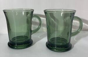 Vintage Anchor Hocking Fern Green Coffee Mugs