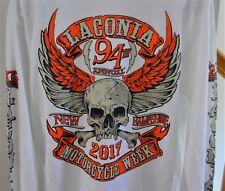 NWOT Laconia NH 94th Bike Week 2017 White T-Shirt Mens Sz XL Skulls Motorcycles
