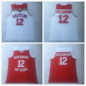 12# Zion Williamson High School Jerseys Spartanburg Griffins Day School Stitched