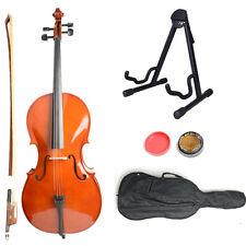 New 4/4 Size Student Cellist Retro Cello + Case + Bow + Rosin + Stand