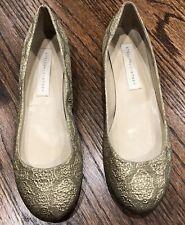 STELLA McCARTNEY Brocade Metallic Gold Ballet Flats Size 8/38