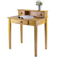 Home Office Desk Writing Table Hutch Workstation Study Storage Shelf Drawer Wood
