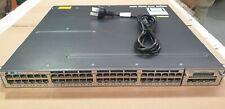 Cisco WS-C3750X-48P-S 48-Port GigE PoE Stackable w/ C3KX-NM-1G C3KX-PWR-715WAC
