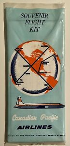 1959 Canadian Pacific Airlines Seat Packet w Ditching Instructions, Cutaway +++