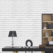 FAI-DA-TE Bianco 3D Mattone Schiuma Morbida Spessa Adesivo Da Parete Pannelli
