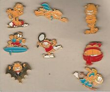Nice collection of 8 Garfield pins - made by Bertoni Milan