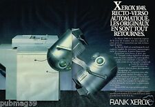 Publicité advertising 1984 (2 pages) Le Copieur recto verso Rank Xerox