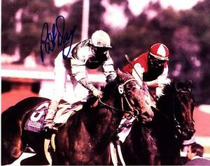 PAT DAY SIGNED AUTOGRAPH 8X10 PHOTO PICTURE IMAGE JOCKEY HORSE RACING HOF #3