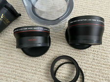 Vivitar 72MM Telephoto and Wide Angle Lens Adapter Kit