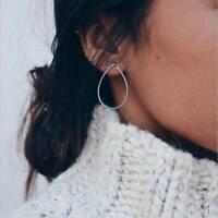 Boho Metal Geometric Water Drop Statement Ear Dangle Earrings Women Jewelry Gift