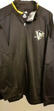 NWT Pittsburgh Penguins Full Zip embroidered Jacket 3XL Black NHL