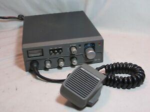 vintage Lafayette HB-750 CB Radio Transceiver w/ mic microphone