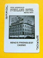 Rick Hobson's Overland Hotel & Casino Uncancelled Joker Single Swap Playing Card