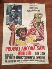 Manifesto,4F,Provaci ancora, Sam Play It Again, WOODY ALLEN KEATON BOGART 1972